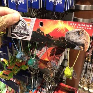 USJ 侏羅紀 恐龍Keychain set $245