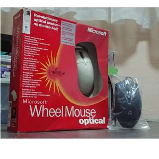 microsoft Vintage Optical-Wheel-Mouse-IntelliEye + logitech g100