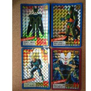 Dragonball loose prism cards x4