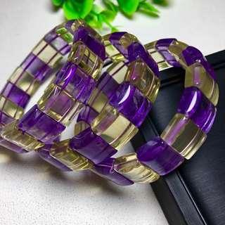 紫黄晶手排 14x10mm 200元