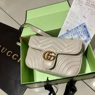 Gucci GG Marmont Shoulder Bag Khaki