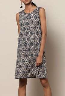 *買買印度*夏季連線~#13 Kalamkari圖騰 圓領無袖短洋裝 *預購