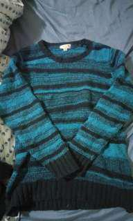 Black and blue Stripey knit Jumper