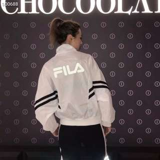 FILA斐樂反光Logo防曬服皮膚衣