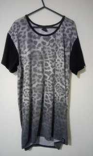 Black and Grey Leopard Print Shirt