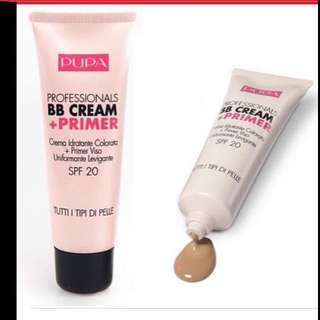 $35 PUPA Professionals BB Cream + Primer with SPF 20 from Italy (Brand New Sealed)