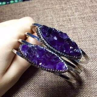 紫晶手鐲 200元