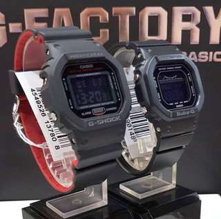 DEADPOOL🌟THEME COUPLE PAIR SET BABYG GSHOCK 200M DIVER SPORTS CASIO WATCH : 1-YEAR OFFICIAL WARRANTY: 100% ORIGINAL G-SHOCK Resistant In Best For Most Rough Users & Unisex: DW-5600HR-1DR vs BLX-560-1DR DW-5600 / DW5600 / DW5600HR / DW-5600BB