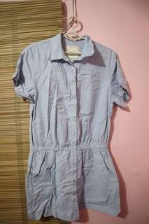 Polo dress, soft denim