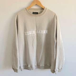 Eddie Bauer Beige Pullover Sweatshirt