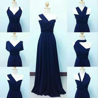 Infinity gown in navy blue