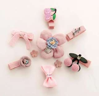 *In Stock* BN Sweet Girls' Assorted Cute Flower Cherries Bow Knot Hair Clips Accessories Boxed Set