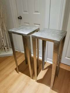 Beautiful Metalic End Tables
