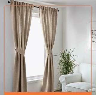 IKEA Blekviva Beige Curtain