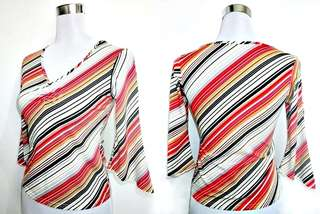 Sale: bell sleeved blouse with diagonal stripes