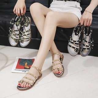 🚚 🌈 韓國🇰🇷卯釘羅馬涼鞋👡