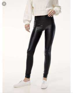 Aritzia Daria Leather Leggings