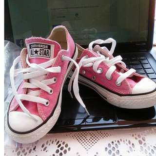 CONVERSE ALL STAR Pink Canvas Low Top Sneakers