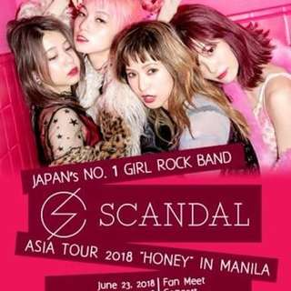 SCANDAL ASIA TOUR 2018 'HONEY' IN MANILA - GENERAL ADMISSION TICKET