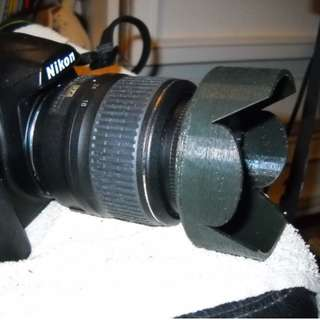 DSLR Lens Hood - 3D Printed Customise to Any Camera Model