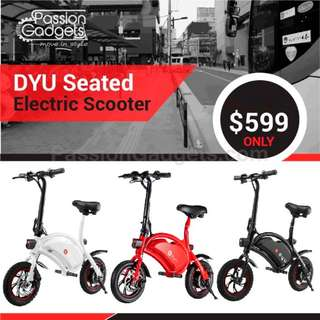 DYU Electric Scooter (Designed by ex-Huawei engineer)  LTA Compliant AM TEMPO