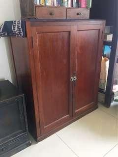 日據 檜木 榻榻米上的  藏 書櫃  和室櫃