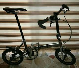 For Sale PANASONIC TRAINCLE Titanium folding bike with 2speed Schlumpf Speed Drive
