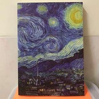 🚚 【全新】ART YOUR TIME 梵谷《星夜》空白筆記本