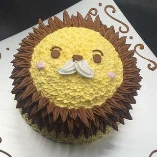 獅子蛋糕 一磅半