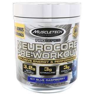 Muscletech Neurocore Pre Workout Icy Blue Raspberry Flavor