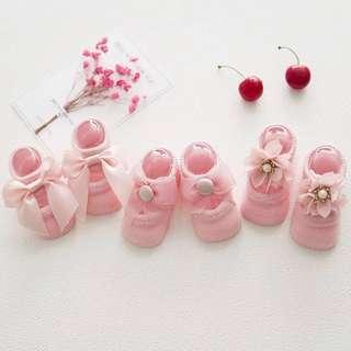 🚚 韓版船襪 嬰幼兒襪子0-1歲 (3雙/組)