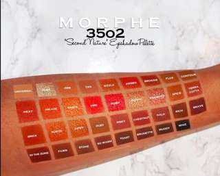 MORPHE 35O2 SECOND NATURE EYSHADOW PALETTE