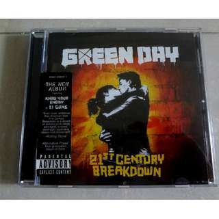 Green Day CD 21st Century Breakdown