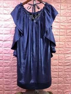 🚚 ❤️[全新]LEE MIN品牌紫色造型美背洋裝