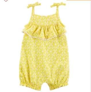 🚚 *18M* Brand New Carter's Lemon Romper For Baby Girl