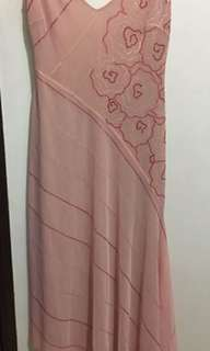 Used Once BCBG Maxazria Collection Salmon Backless Dress