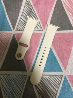 100%  Original 38mm pearl white watch band - 珍珠白錶帶配玫瑰釘