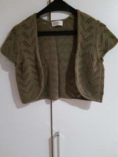 Bolero Knit Dark Green