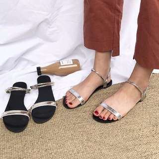 韓版金色涼鞋