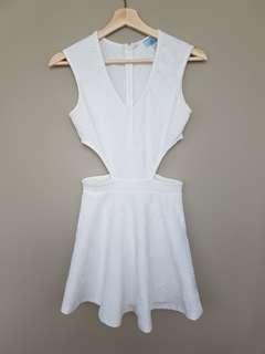 Tobi White Cutout A-Line Dress