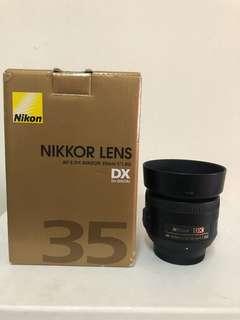 Nikon AFS 35mm f1.8