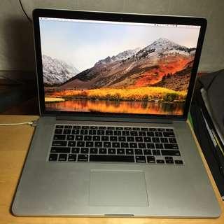 15-inch MacBook Pro Retina Mid 2012 2.3GHz i7 16GB 256GB SSD GT 650M