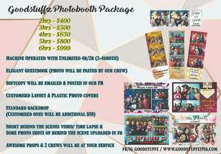Photo Booth / Photobooth Packages