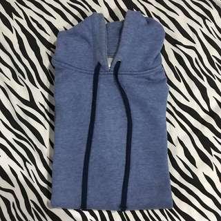 Jacket hoodie biru muda scrmng sz l