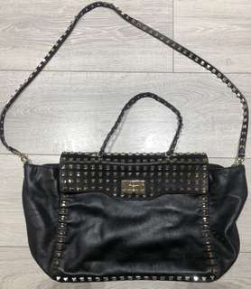 Authentic large Valentino Rockstud studded leather tote bag