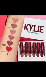 (NO INSTOCKS!) 'Preorder' Authentic kylie 6 in 1 matt lipstick set * waiting time 15-20 days after payment is made*Chat to buy to order