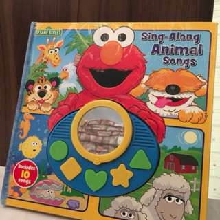 Elmo Sing-Along Animal Songs Children's Book