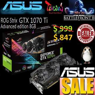 Asus ROG Strix GTX 1070 Ti Advanced edition 8GB GDDR5.., ( June 2018 Asus Sales )