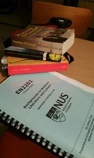 NUS En2201 (Western Literature) Books, Course Pack, Readings, Notes