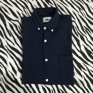 Taka craft pq classic shirt navy size l kemeja panjang